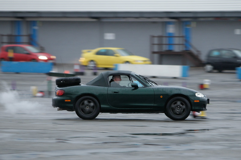Green MX5 with spare wheel
