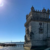 Belém Tower, located in the civil parish of Santa Maria de Belém in the municipality of Lisbon, Portugal