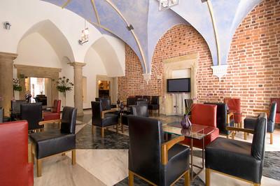 Poland, Cracow, Hotel Stary on ulica Szczepanska, cafe bar