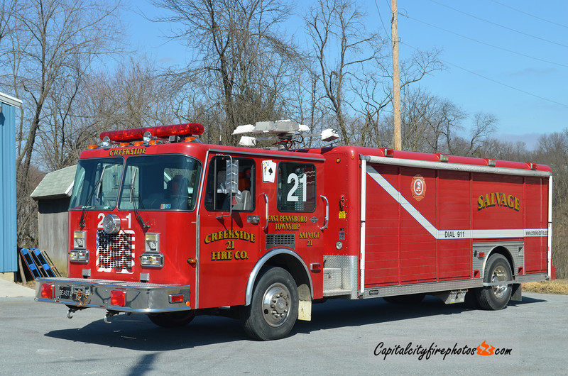 Creekside X- Salvage 21: 1992 Spartan/Hackney (X-Champions Area, TX; Frystown, PA. Sold to K & S Towing Recovery, Havertown, PA in 2018 ***)