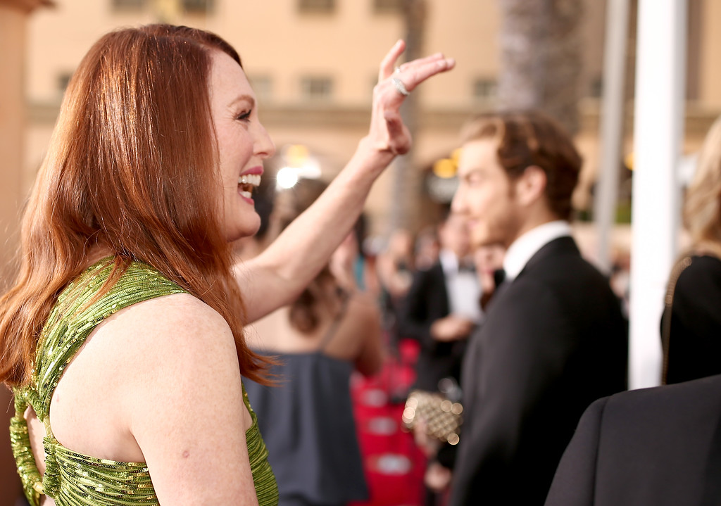 . Actress Julianne Moore attends The 22nd Annual Screen Actors Guild Awards at The Shrine Auditorium on January 30, 2016 in Los Angeles, California. 25650_018  (Photo by Christopher Polk/Getty Images for Turner)