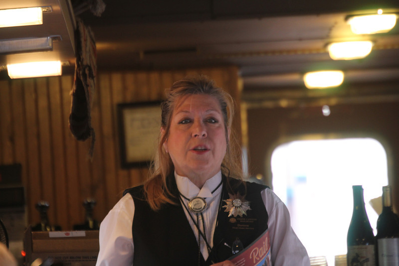 Doreen - the hostess in our train car