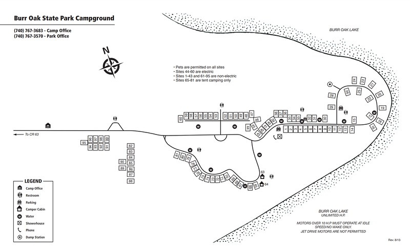 Burr Oak State Park (Campground Map)
