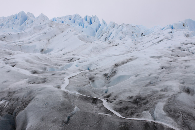 path up the glacier