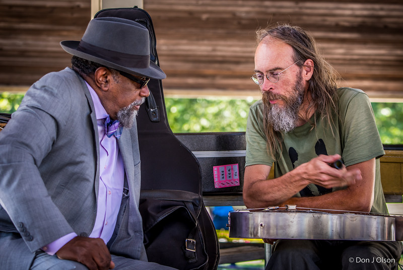 Bill Sims Jr. & Charlie Parr--Rock Bend Folk Festival 25, St. Peter MN.