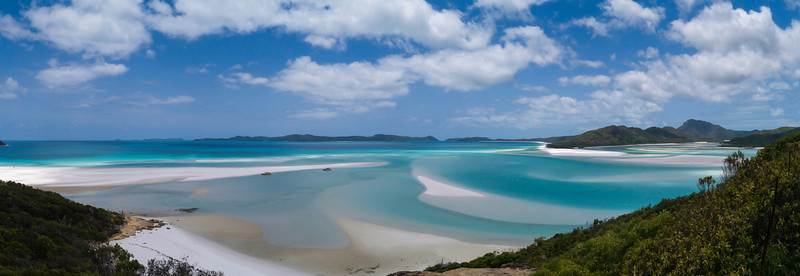 Panorama looking over the North end of Whitehaven Beach