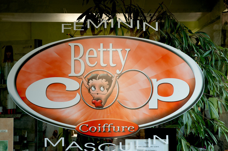 """Couper means """"cut"""" - hence the Betty Coop name"""
