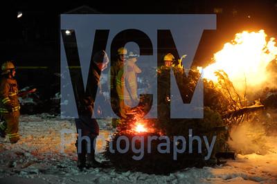 Waterbury Winterfest bonfire