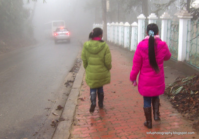 Miserable day in Sapa - January 2012