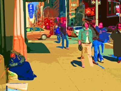 On the Street (Digital Art)
