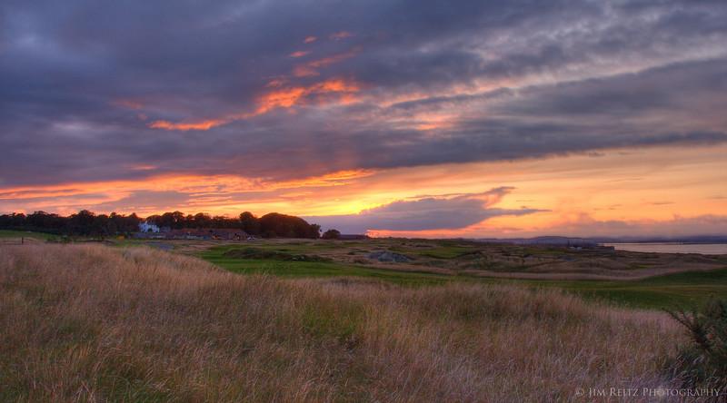 Beautiful sunset over St. Andrews, taken from Fairmont St. Andrews resort.