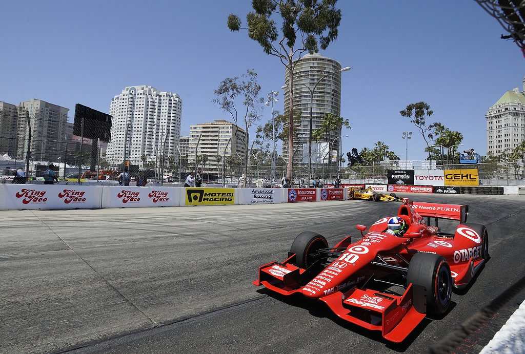 . LONG BEACH, CALIF. USA -- Dario Franchitti during the Toyota Grand Prix of Long Beach on April 21, 2013.  Photo by Jeff Gritchen / Los Angeles Newspaper Group