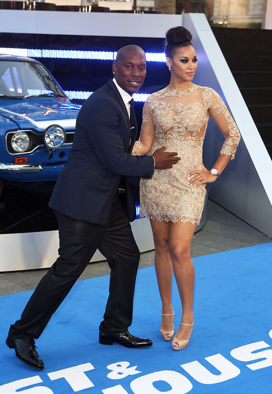 . Tyrese Gibson and  Lyndriette Kristal Smith attend the World Premiere of \'Fast & Furious 6\' at Empire Leicester Square on May 7, 2013 in London, England.  (Photo by Tim P. Whitby/Getty Images)