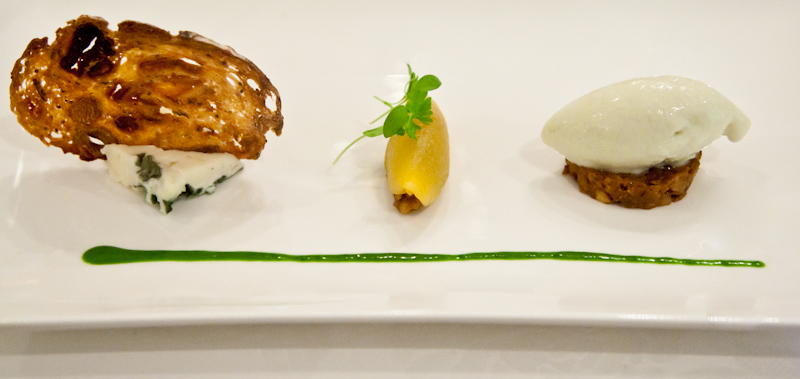 Roquefort, Prune Chutney, Roquefort Ice Cream