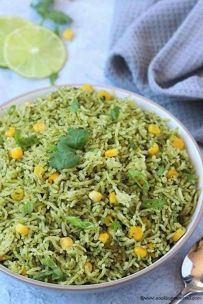 Instant Pot Arroz Verde (Green Rice)