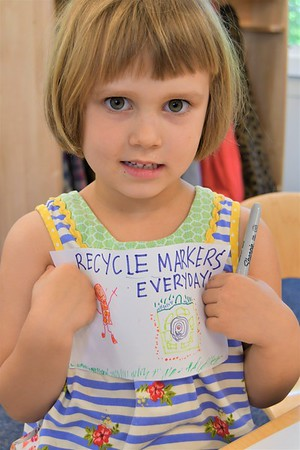 Pre-K Makes Its Mark with a Colorful Service Project