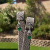 2.00ctw+ Emerald and Diamond Art Deco Conversion Earrings 26