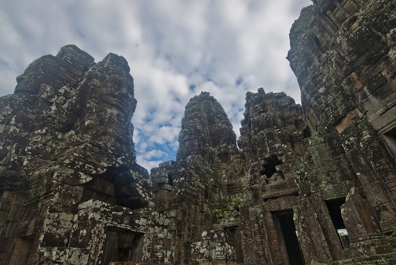 The giant towers of Bayon Temple