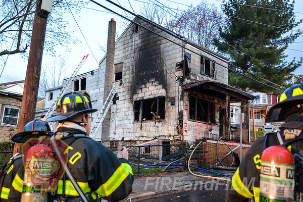 Schuylkill County - Pottsville City - House Fire - 04/19/2019