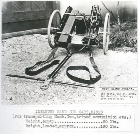 M1920 INFANTRY HAND GUN CART