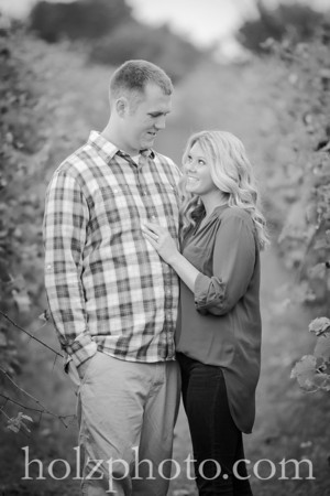 Megan & Kyle B/W Engagement Photos