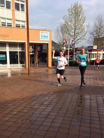 Running through Hoevelaken approaching 12 km.