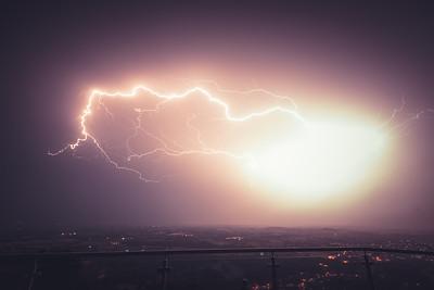 Epic Summer Lightning Show over Worcestershire
