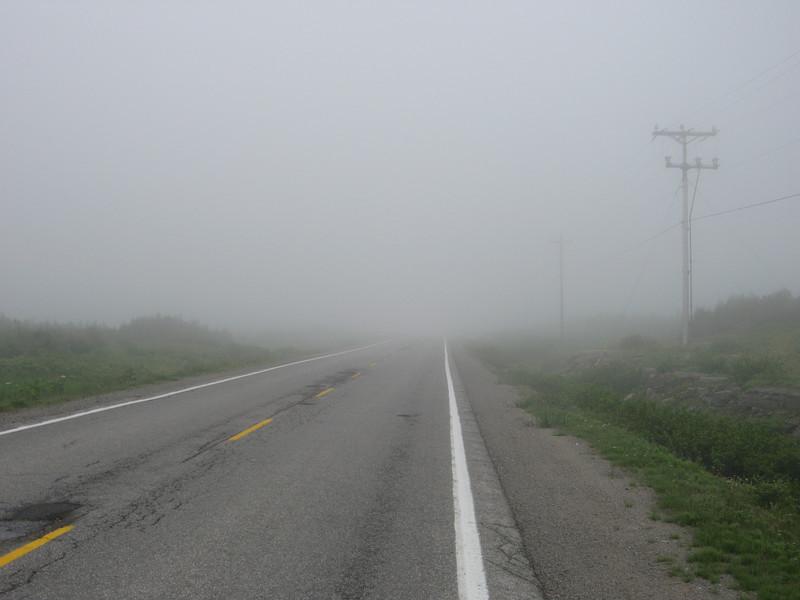 Dense fog, not unusual here...
