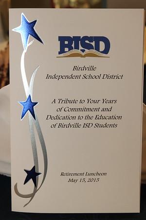BISD 2015 Retirement Luncheon