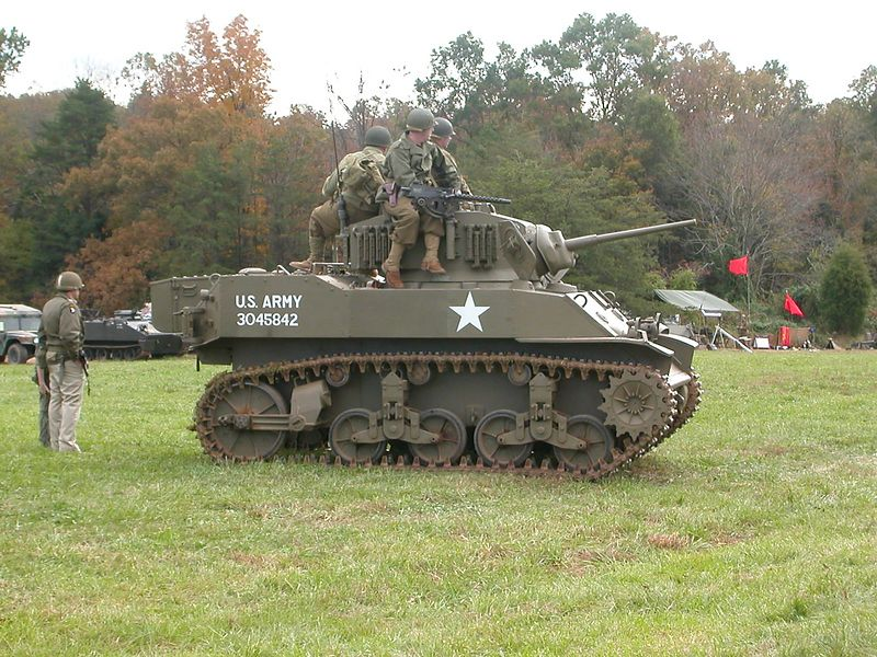 M5A1 Stuart - Made by Buick