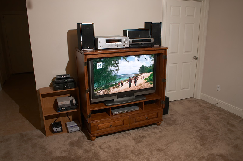 The entertainment center