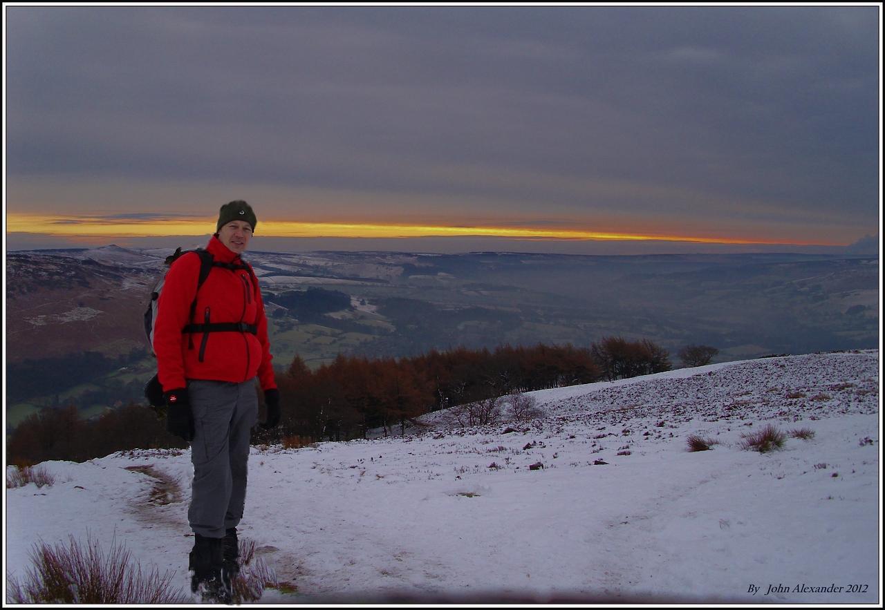Ricko in training. Peak District Jan 2012