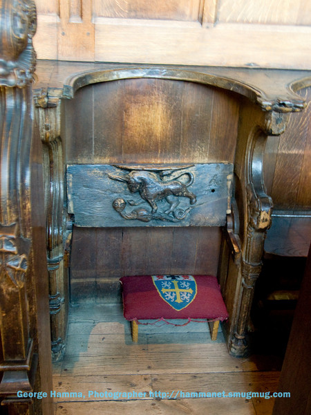 Durham Castle - Seat in the Chapel