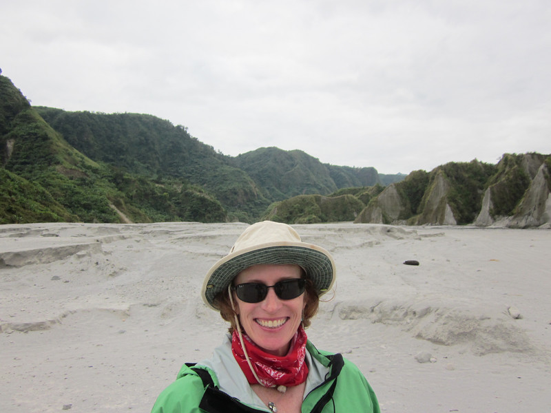 Starting to climb Mount Pinatubo