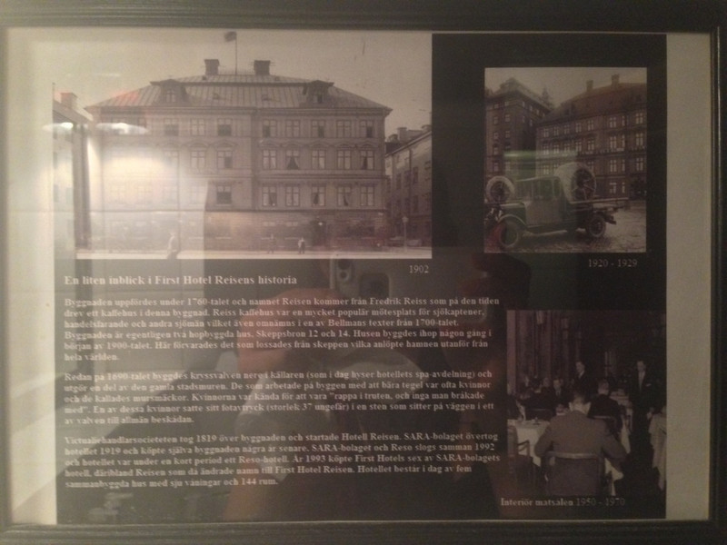 History of Hotel Reisens that I can't read.