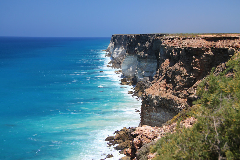 Cliffs near the Nullabor Roadhouse  - on the way home