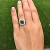 4.38ctw Art Deco Russian Demantoid & Diamond Cluster Ring 15