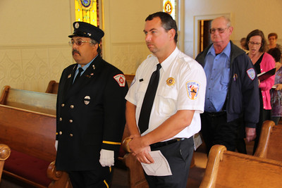 Volunteer Memorial Service, Blue Service, Church, Weatherly (9-30-2012)