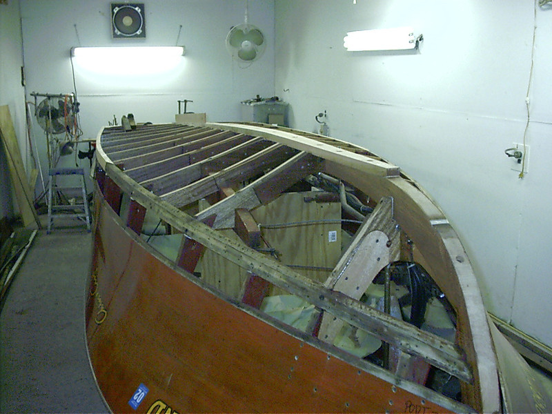 Front port view of new keel installed.