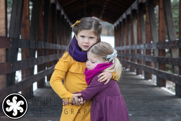 Vail Family Photos - Gore Creek Covered Bridge - Coates