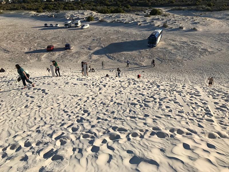 Sandboarding at Lancelin Sand Dunes