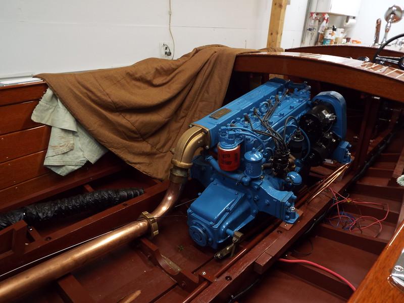 Engine installed.