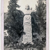 """Title: """"Wild Bill's Monument."""" James B. Hickoc [i.e. Hickok], alias """"Wild Bill,"""" born May 27, 1837 at Homer, Ill. Killed by Jack McCall at Deadwood, S.D., Aug. 2, 1876, where his body now lies<br /> Headstone on Wild Bill Hickok's grave; sculpture of head and shoulders on tall monument. 1891.<br /> Repository: Library of Congress Prints and Photographs Division Washington, D.C. 20540"""