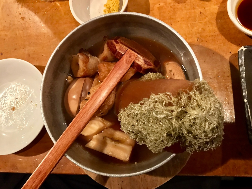 Shirube's awesome oden.