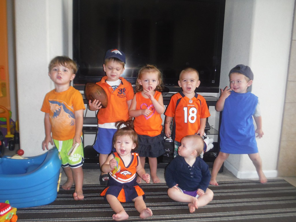 . The tots at Tumbleweed Childcare are United in Orange and ready for the Broncos! Photo by DeeDee Overton