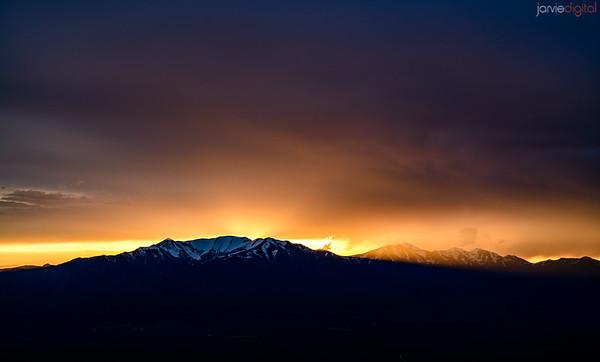 Lake Mountain Sunset