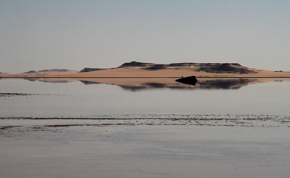 Birket Zeitoun lake in the Siwa oasis, Egypt