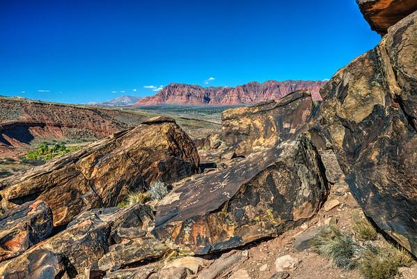 Anasazi Petroglyphs  Santa Clara Utah