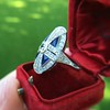 1.88ctw Art Deco style Saphhire and Diamond Dinner Ring 9