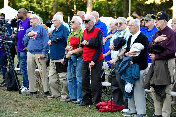 9/20/2019 Mike Orazzi | Staff Area veterans while being honored during the Mum Festival on Friday evening in Bristol.